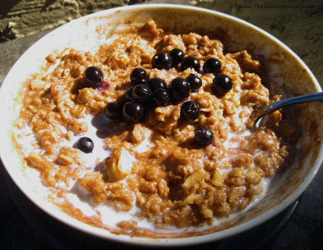 The Rising Spoon Blog: Vegan Pumpkin Spice & Cinnamon Oatmeal