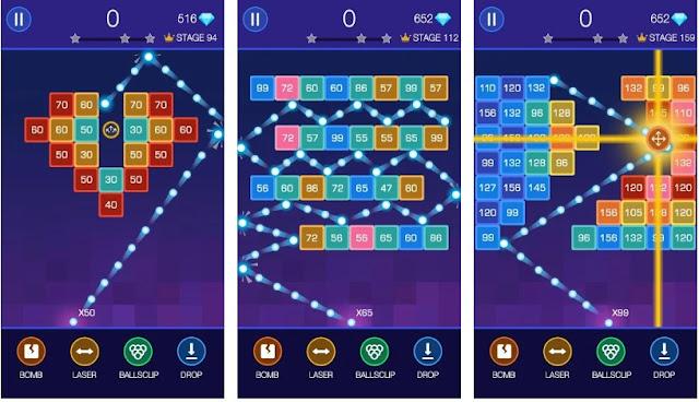 Bricks Breaker - Glow Balls 5 Game Mengasaha Otak Masa Kini
