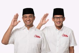 Anies-Sandi Menang di Pilkada DKI Jakarta 2017