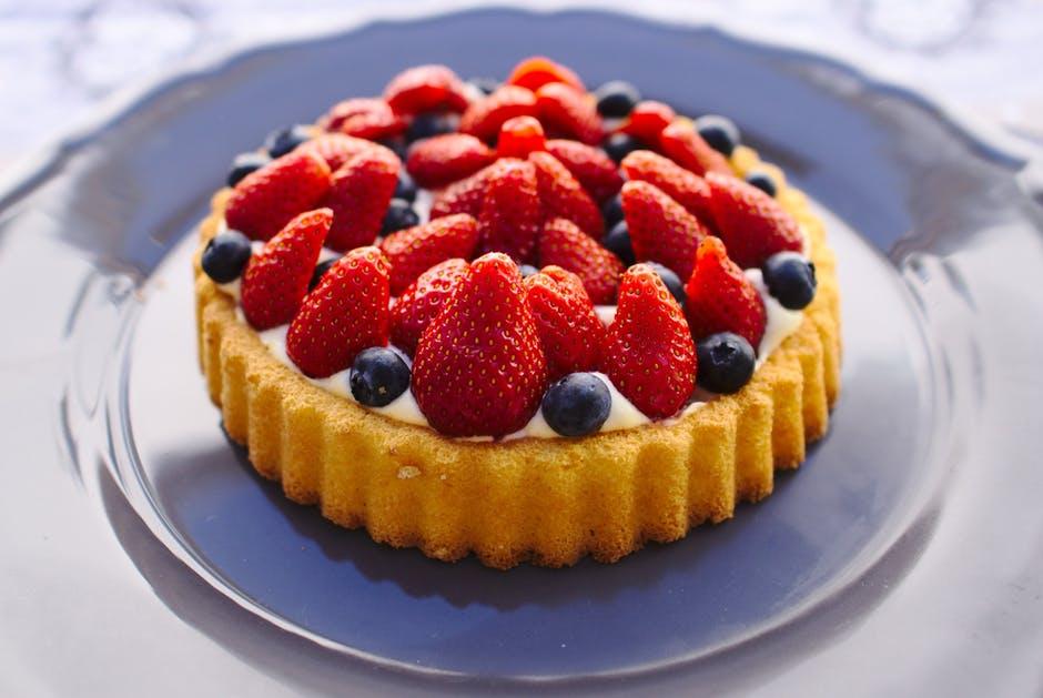 torta de frutas vegano