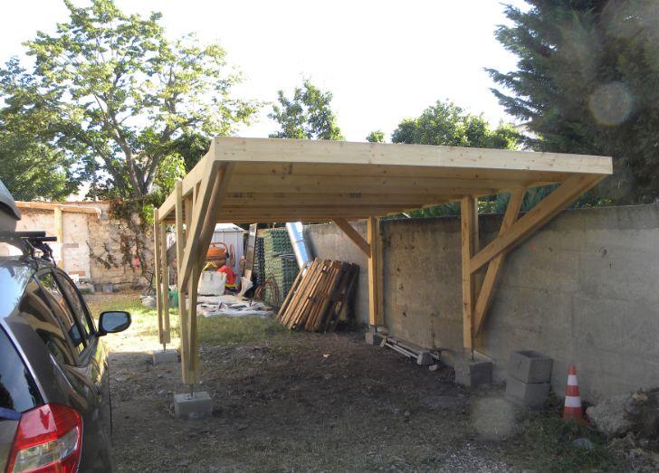 Carport fait maison avie home - Construire un carport ...