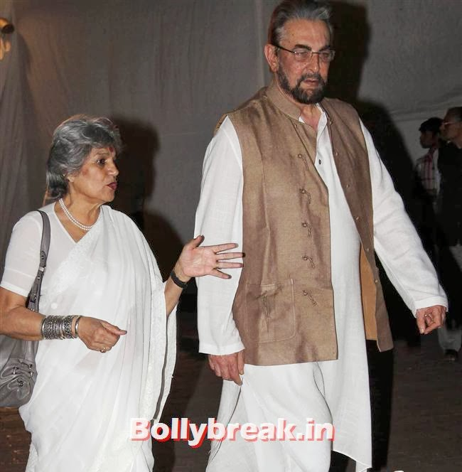 Dolly Thakore and Kabir Bedi, Celebs at Farooq Sheikh Prayer Meet