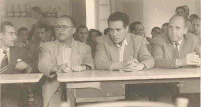 Acto de presentación del I Torneo Nacional de Ajedrez de La Pobla de Lillet 1955