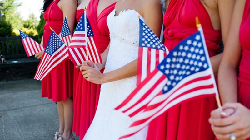 4th-of-July Wedding
