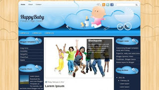 Happy Baby Template Blog