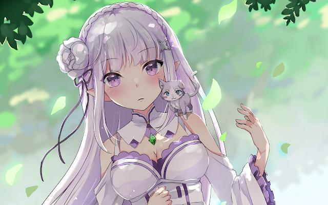 wallpaper rezero emilia