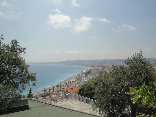 Promenade des Anglais, vista da colina - Nice - França