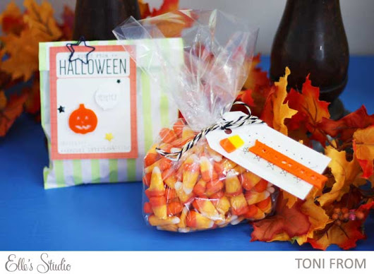 Using the October Elle's Studio Kit to make Halloween Treat Bags