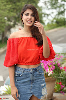 Rhea Chakraborty in Red Crop Top and Denim Shorts Spicy Pics ~  Exclusive 110.JPG