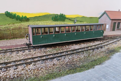 Welsh Highland Railway coach 23 in 009 scale