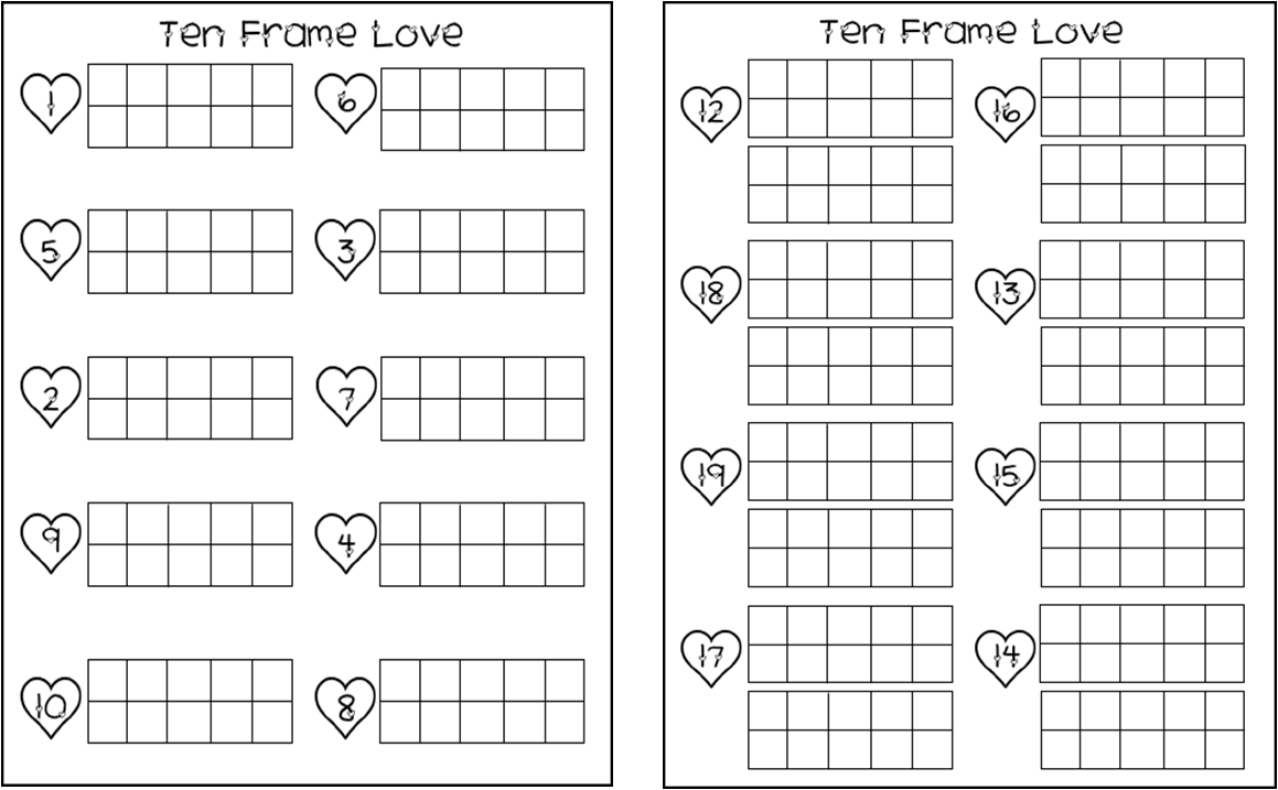I imagine inspire innovate valentine activities and for 10 frame template printable