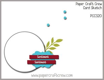 Paper Craft Crew Card Sketch Challenge #PCC320