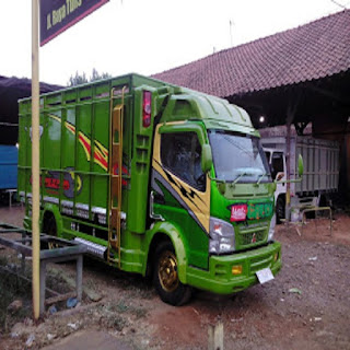 Kumpulan foto gambar full variasi truk canter modifikasi truk canter ceper bemper bak terbaru