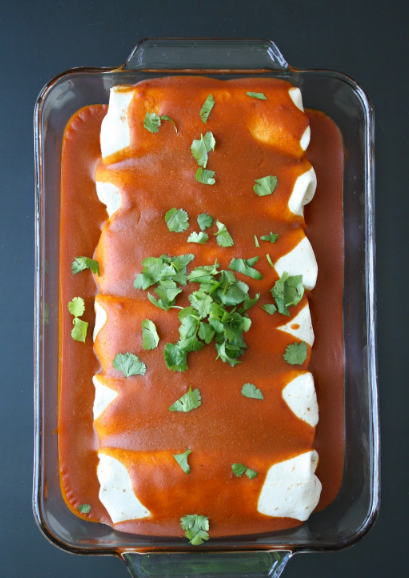 Protein Monster Vegan Enchiladas #vegan #delicious