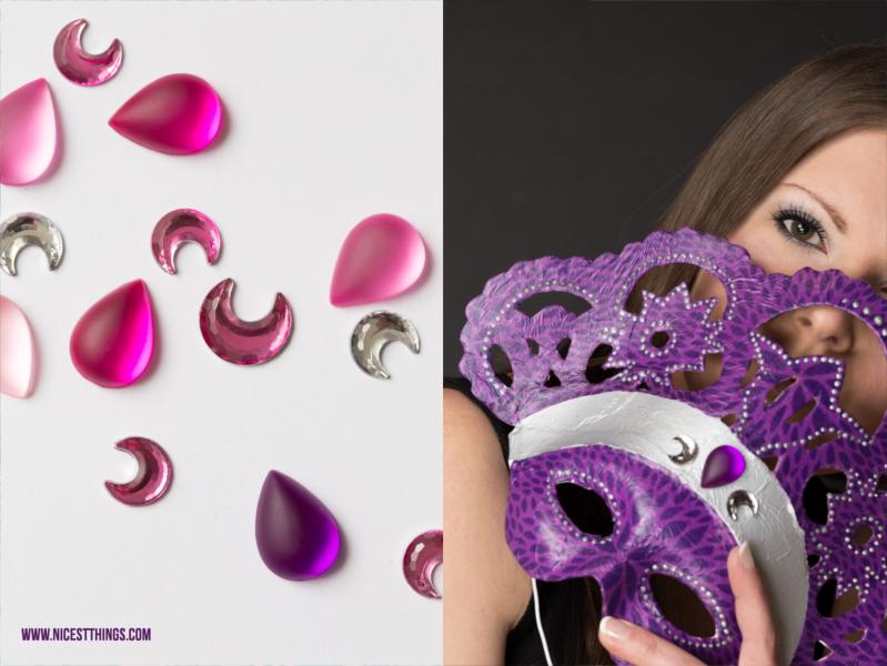 Venezianische Maske basteln DIY Decopatch Masken selber machen mit Serviettentechnik