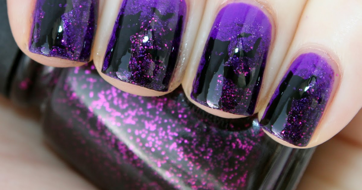Samarium's Swatches: Black Cats & Bats! Halloween Nails!
