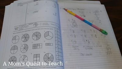Math Refresher for Adults fractions work