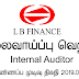 Vacancy In LB Finance   Post Of - Internal Auditor