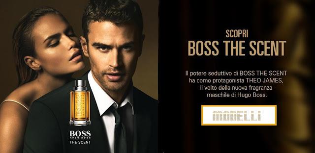 Modello attore e modella pubblicità Hugo Boss The Scent