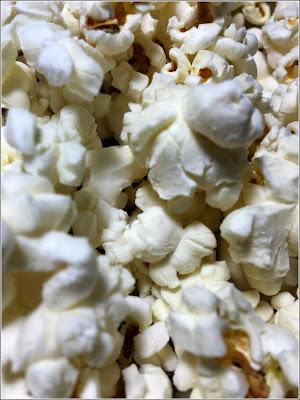 January 14, 2019 Enjoying popcorn before bed.