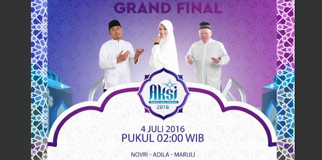 Pemenang dan Juara Satu AKSI Akademi Sahur Indonesia Tgl 04 Juli 2016 (Grand Final)