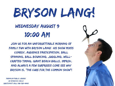 Franklin Library: Bryson Lang - Wednesday, Aug 9