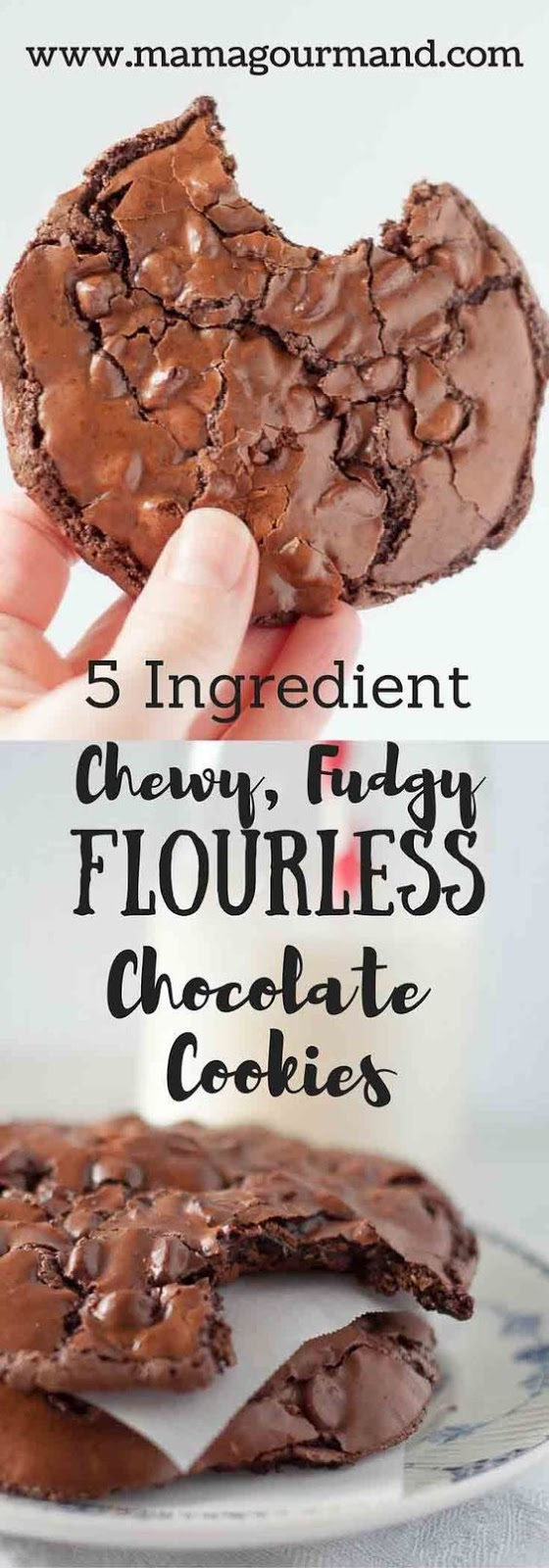 KETO Chewy, Fudgy Flourless Chocolate Cookies