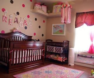 cuarto de bebé con lunares