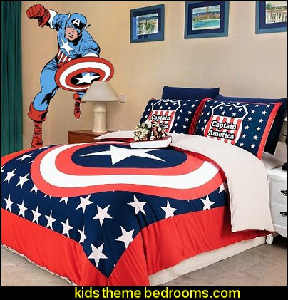 Super Hero Captain America Bedding Captain America Wall Decal