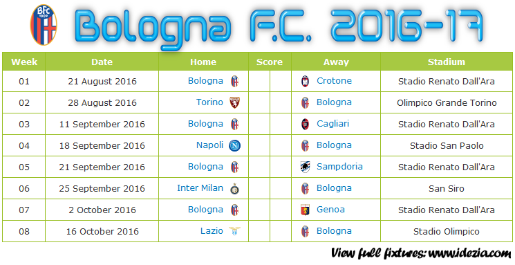 Download Jadwal Bologna FC 2016-2017 File PNG - Download Kalender Lengkap Pertandingan Bologna FC 2016-2017 File PNG - Download Bologna FC Schedule Full Fixture File PNG - Schedule with Score Coloumn