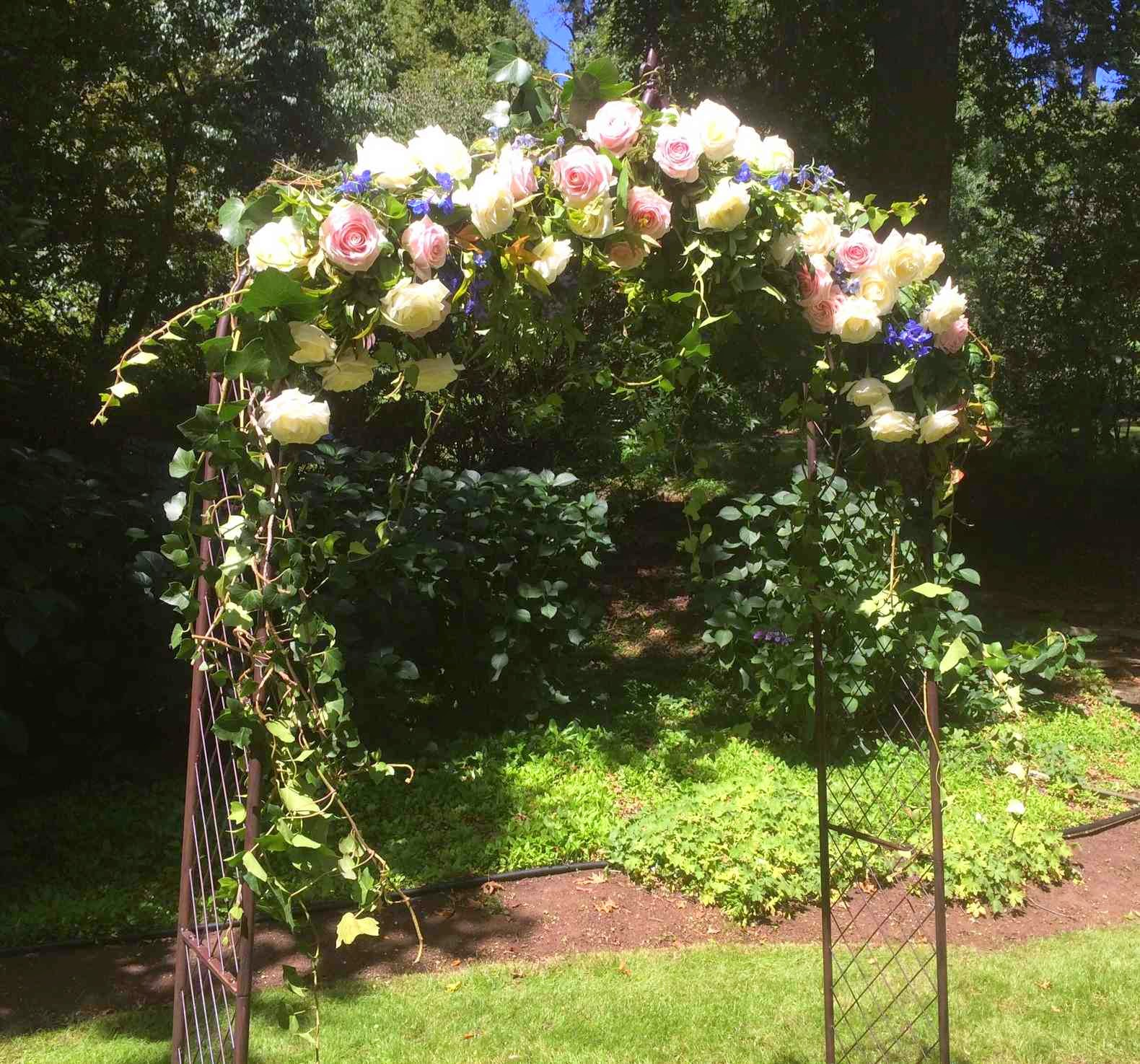 Wedding Arches With Flowers: ...with A Little Flower: Garden Wedding Arches & Details