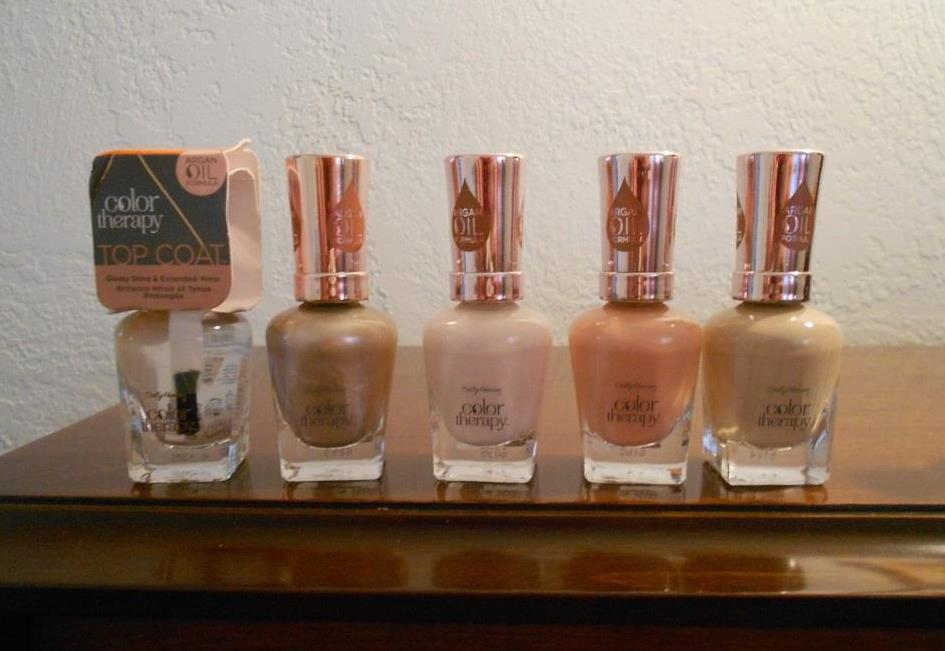 Sally Hansen Color Therapy five nail products for summer nails