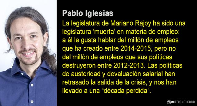 Pablo Iglesias: Por una nueva socialdemocracia