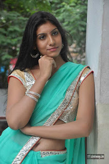 Actress-Srilekha-Latest-Stills-in-Saree