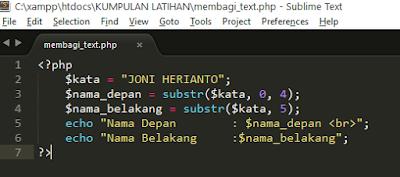 2 - Tutorial Pemrograman Php - Cara Membagi/Memecah Text String