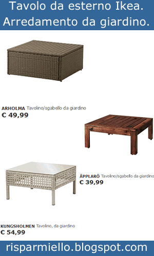 Risparmiello tavoli e sedie da giardino ikea per esterno - Tavolo esterno ikea ...