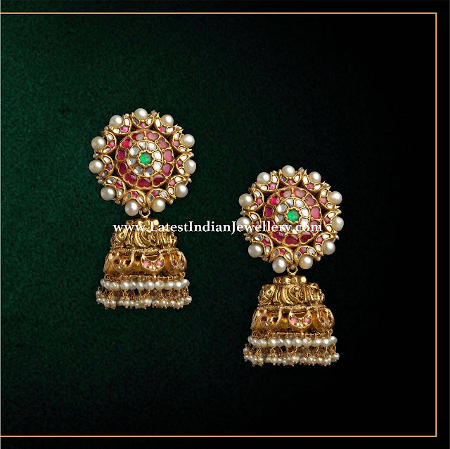 Bridal Heavy Gold Jhumkas