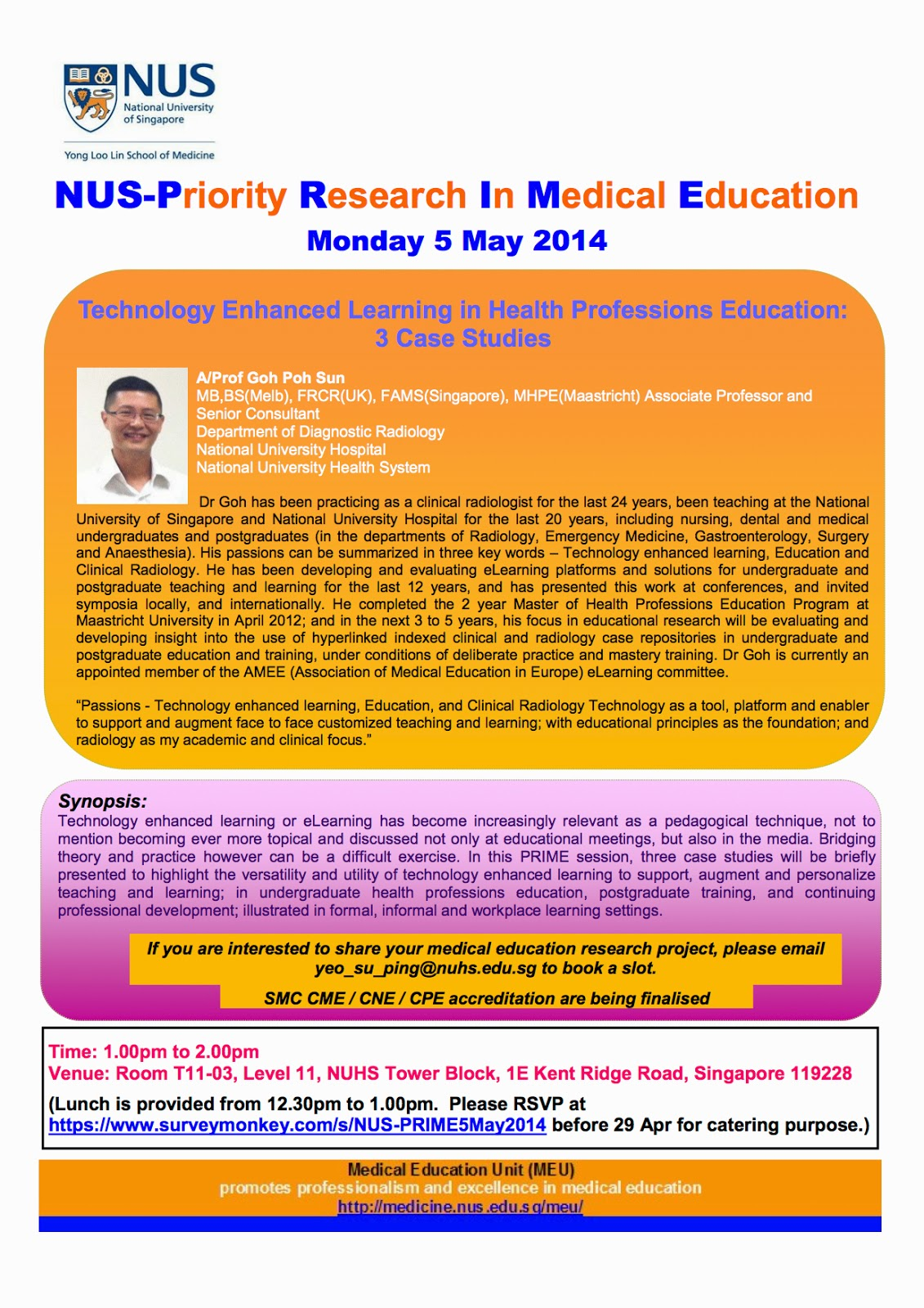 Medical Education and eLearning Portfolio: NUS-Prime