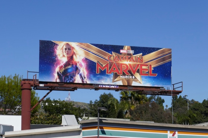 Captain Marvel film billboard