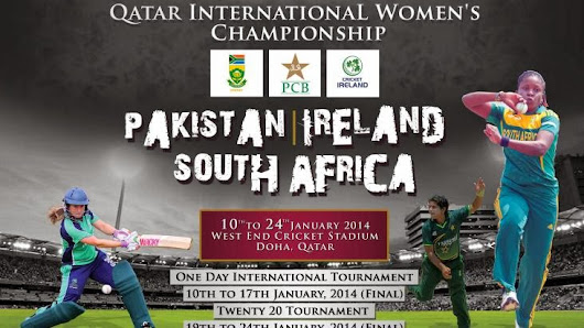 Teams arrive for Qatar International Cricket Women's championship