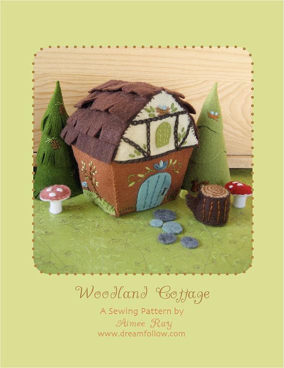 felt Woodland Cottage PDF pattern