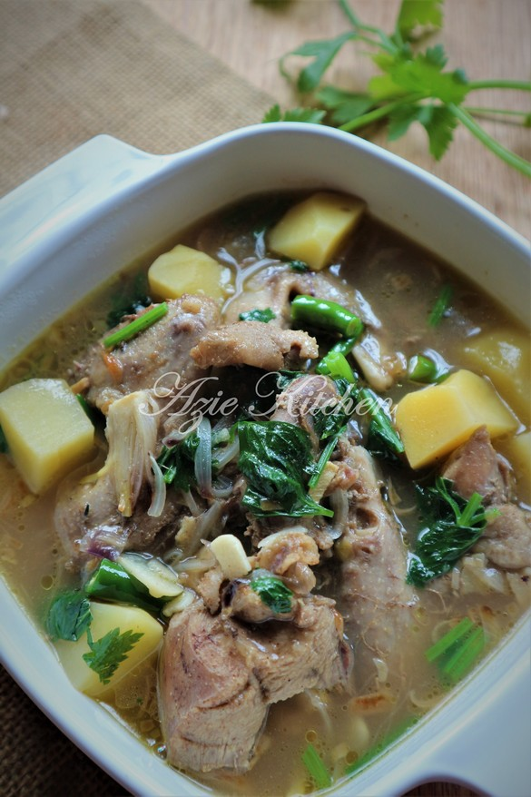 Sup Ayam Kampung : kampung, Hutan, Kitchen