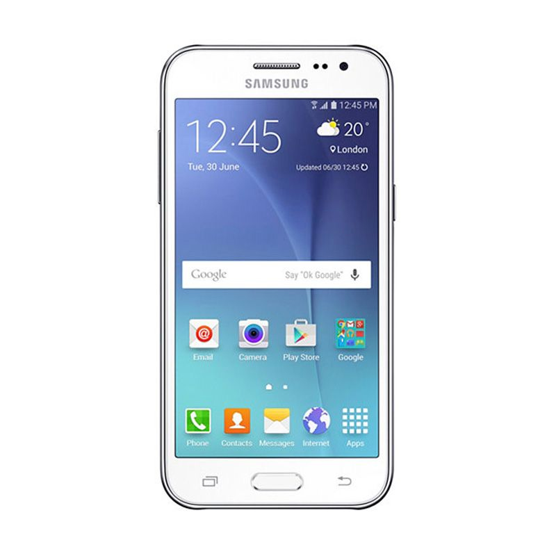Samsung Galaxy J200 White Smartphone 8 GB