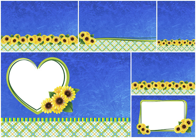 Daisies in Blue: Free Printable Wedding Invitations.