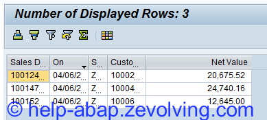 SALV Show Count of Displayed Records