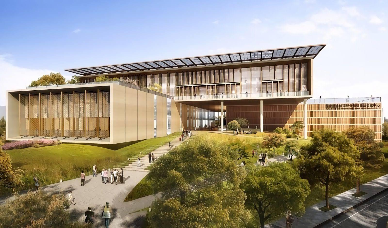 挑戰2021打卡新熱點!科技與自然並進|植披高達九成的AI未來概念圖書館開工