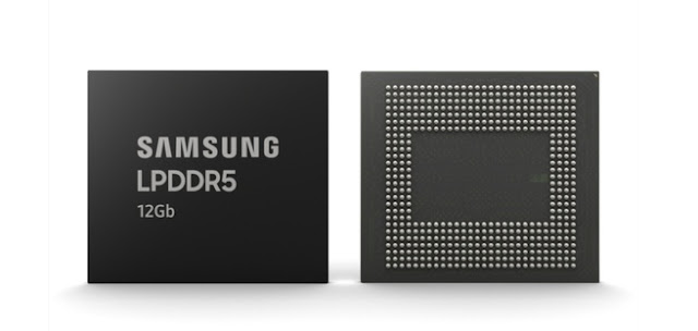 Samsung is starting this month with the mass production of 12GB-lpddr5 for smartphones.