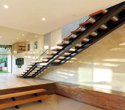 Fotos de escaleras escalera de madera para interiores for Imagenes escaleras interiores