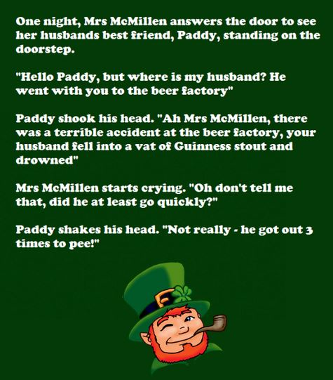 Gallery For gt Funny Irish Jokes One Liners