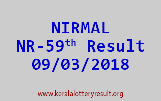 NIRMAL Lottery NR 59 Results 09-03-2018